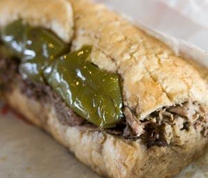 [Portillo's Italian Beef Sandwich]